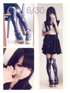 おすすめデート服の画像「ニーハイ」05